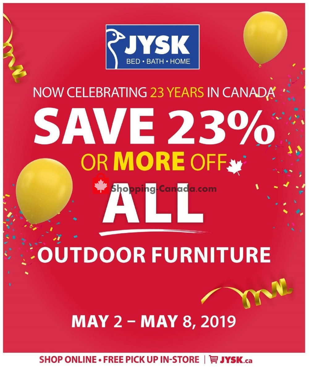 Flyer JYSK Canada - from Thursday May 2, 2019 to Wednesday May 8, 2019