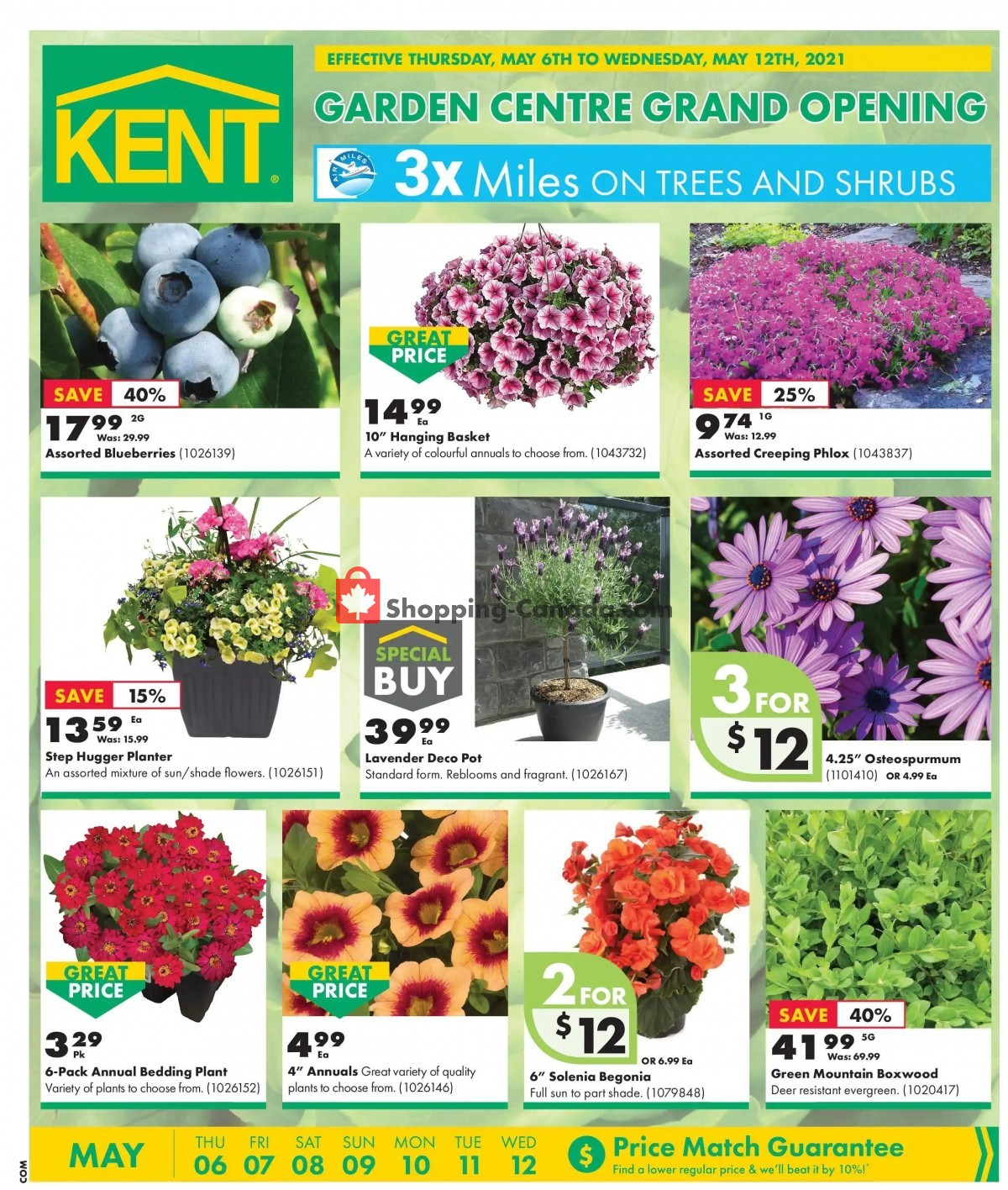Flyer Kent Building Supplies Canada - from Thursday May 6, 2021 to Wednesday May 12, 2021