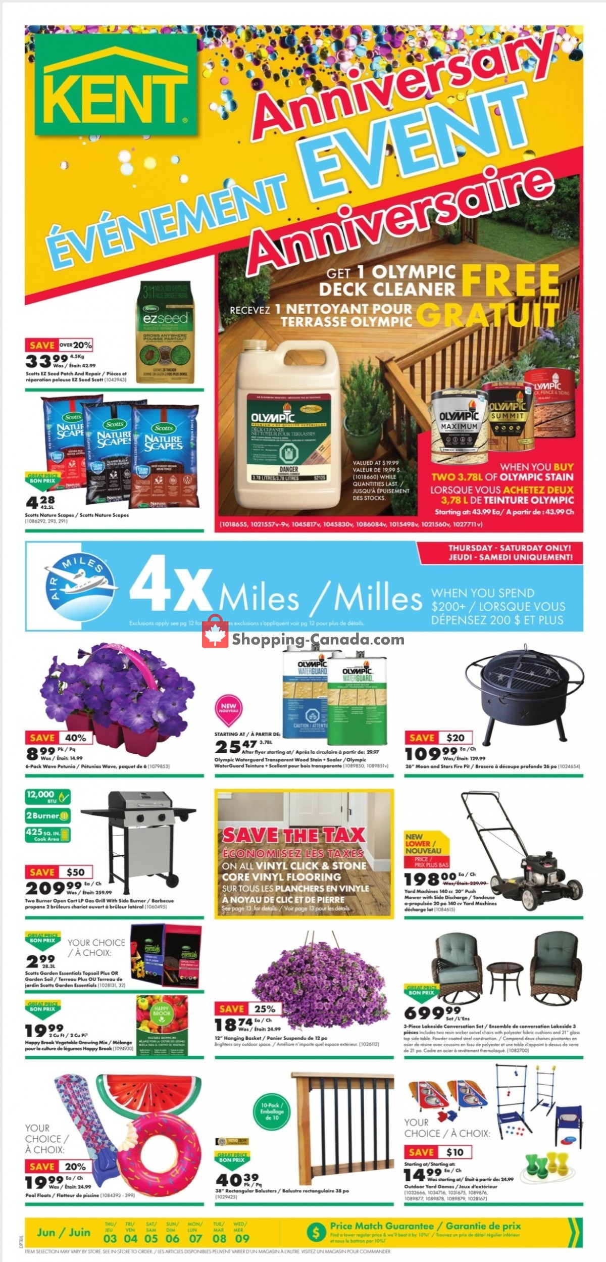 Flyer Kent Building Supplies Canada - from Thursday June 3, 2021 to Wednesday June 9, 2021