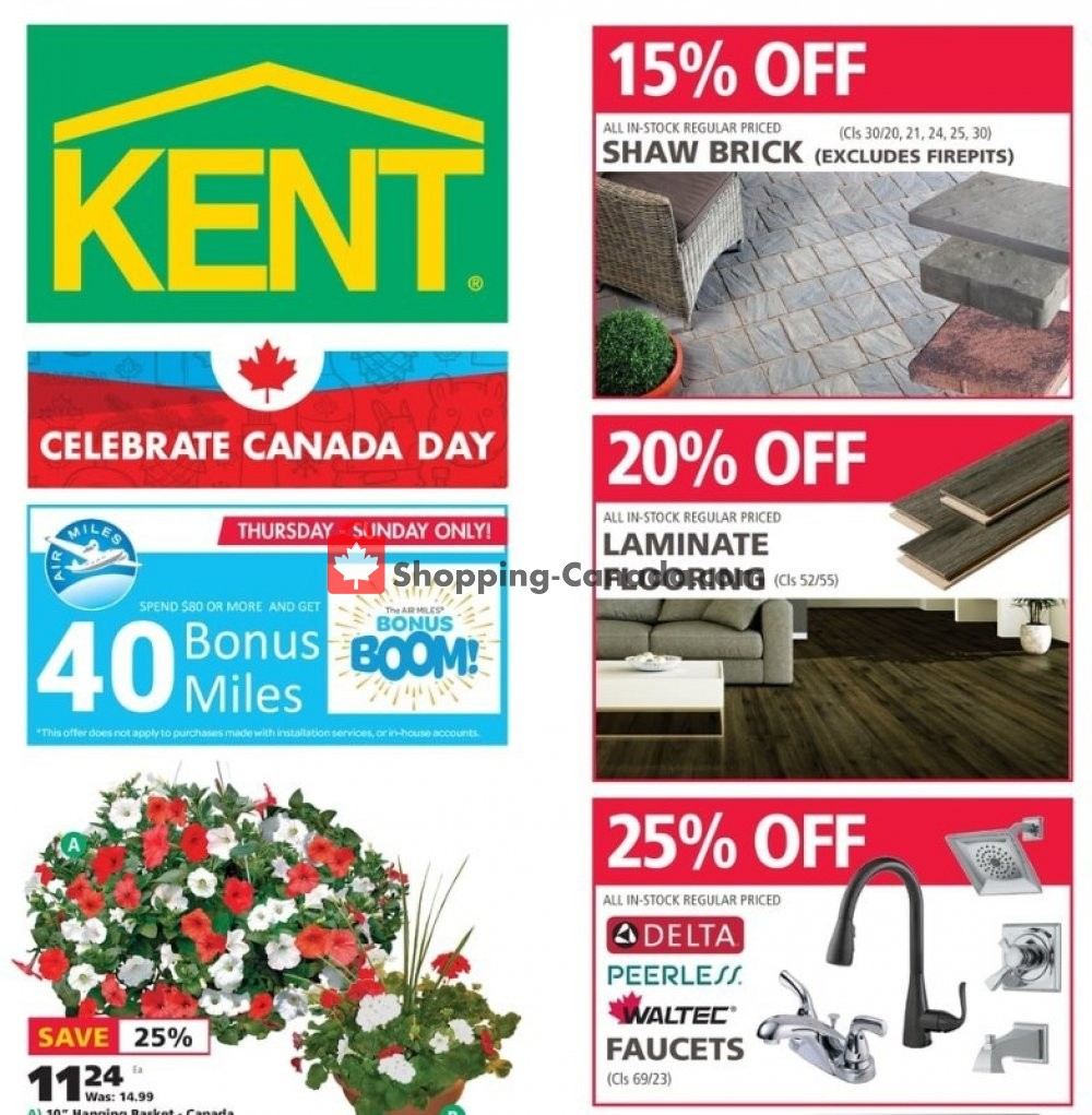 Flyer Kent Building Supplies Canada - from Thursday June 27, 2019 to Wednesday July 3, 2019
