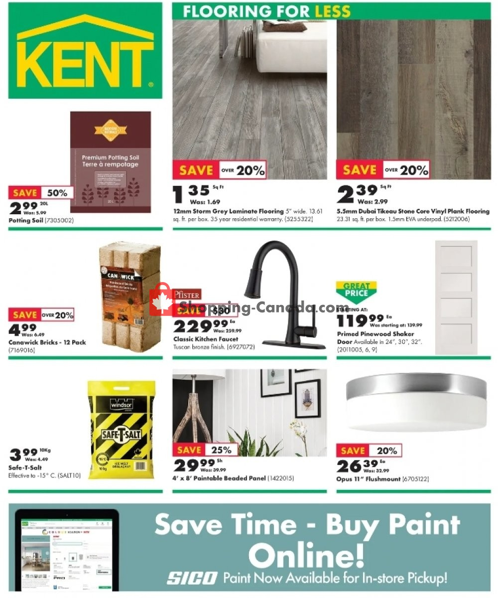 Flyer Kent Building Supplies Canada - from Thursday January 14, 2021 to Wednesday January 20, 2021