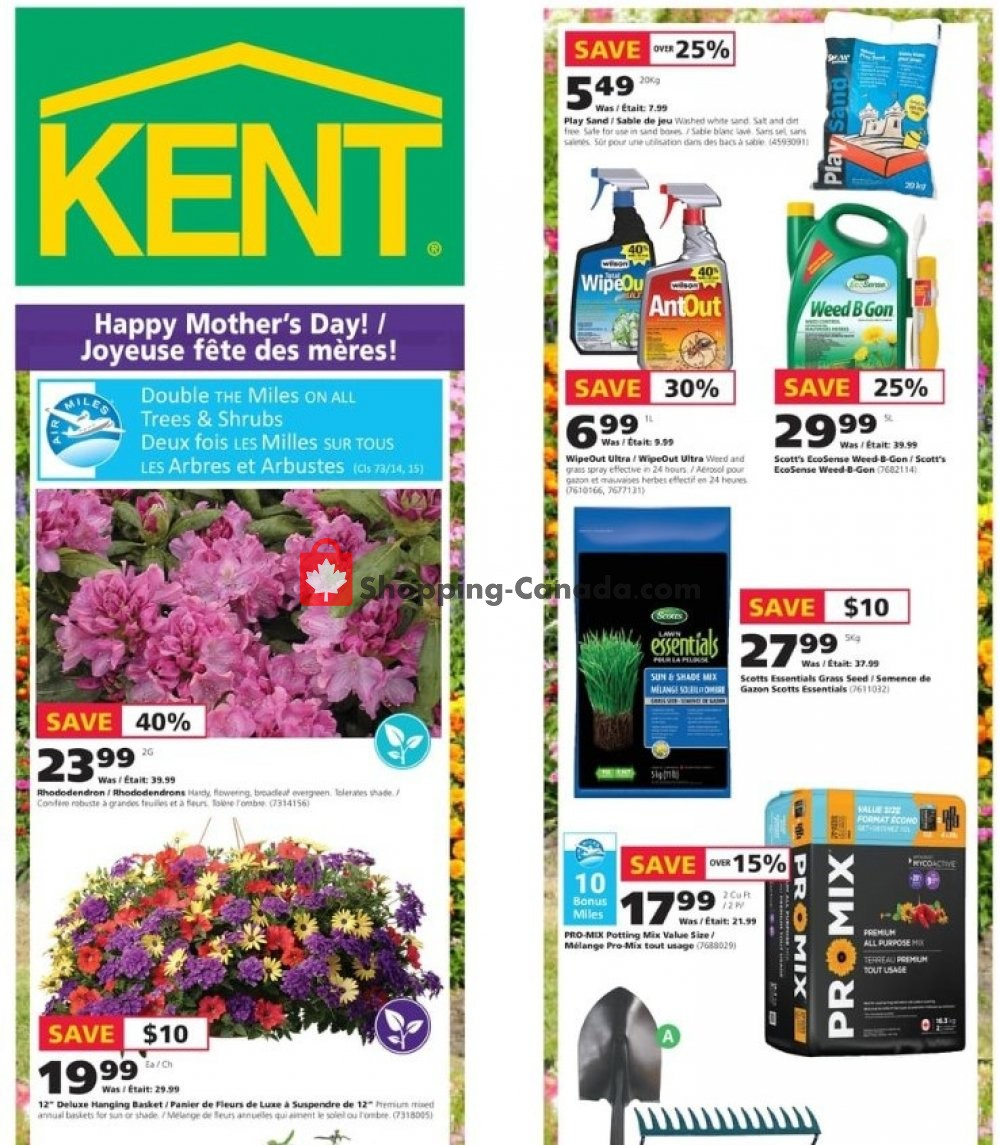 Flyer Kent Building Supplies Canada - from Thursday May 9, 2019 to Wednesday May 15, 2019