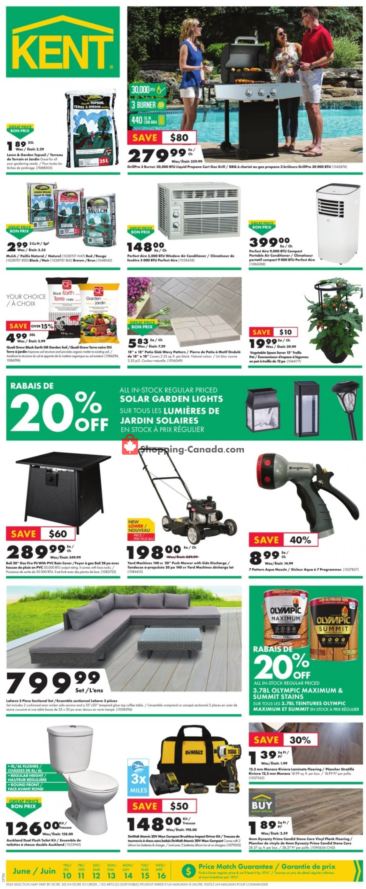 Flyer Kent Building Supplies Canada - from Thursday June 10, 2021 to Wednesday June 16, 2021