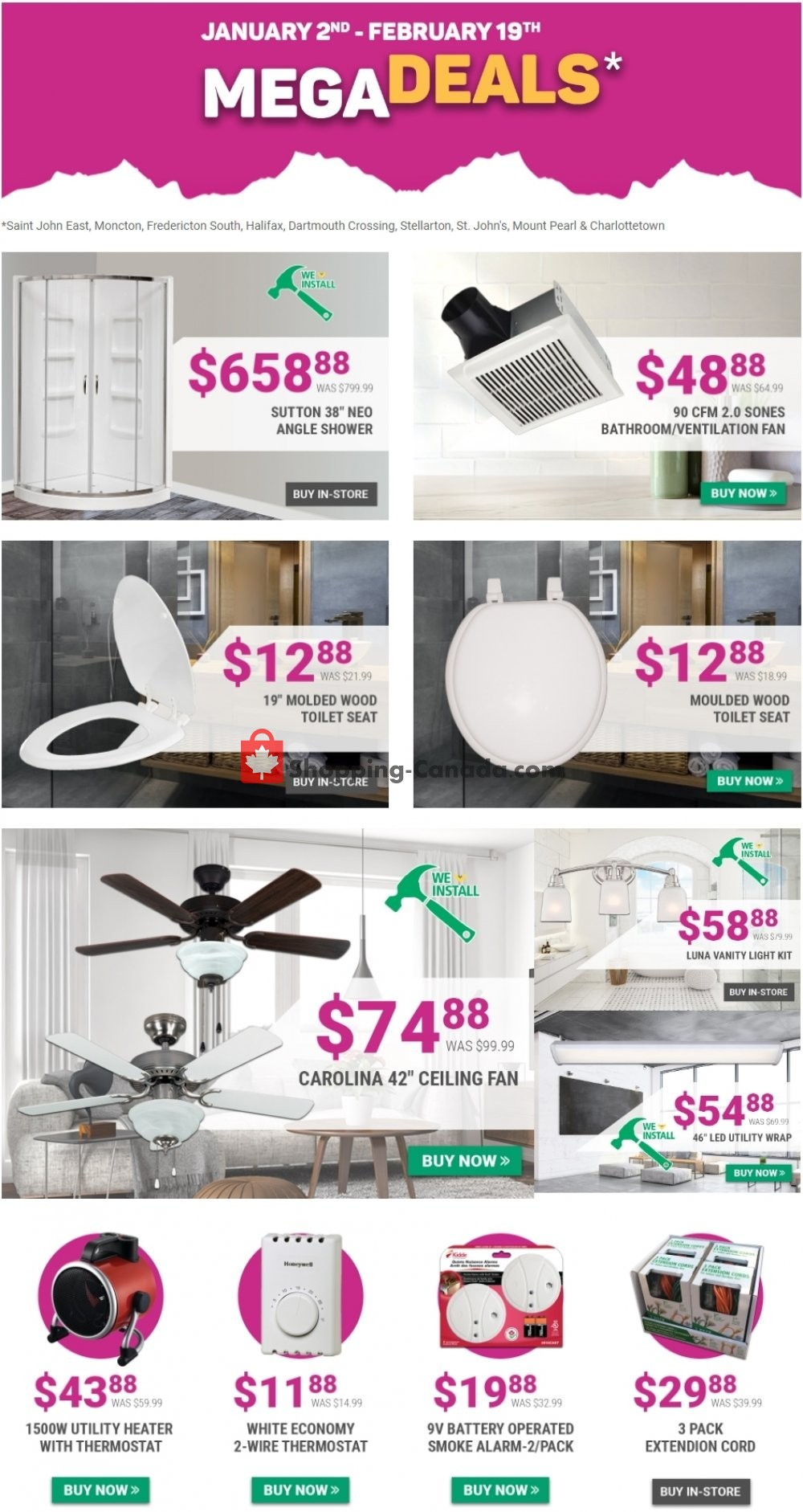 Flyer Kent Building Supplies Canada - from Thursday January 2, 2020 to Wednesday February 19, 2020