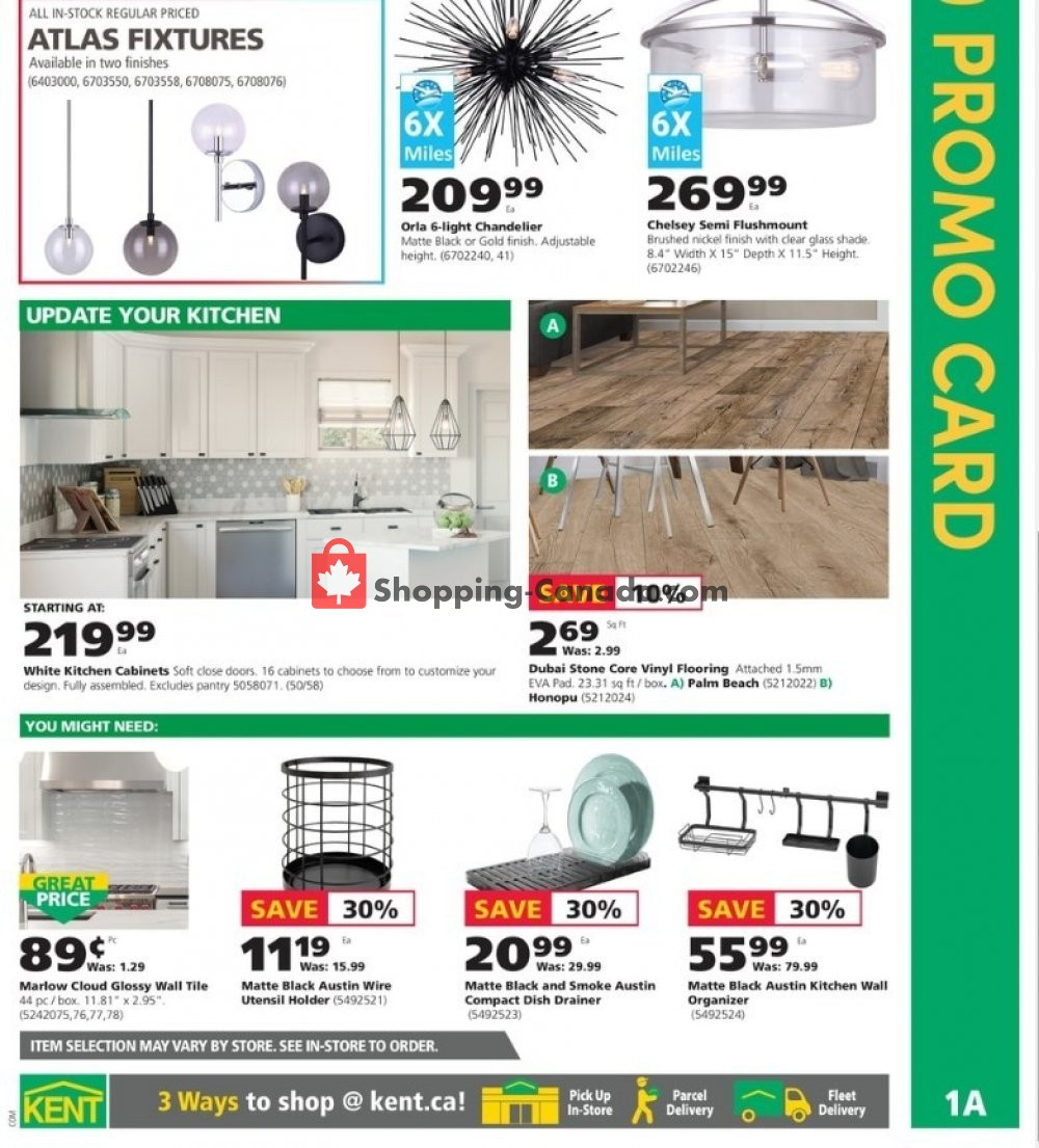 Flyer Kent Building Supplies Canada - from Thursday October 10, 2019 to Wednesday October 16, 2019