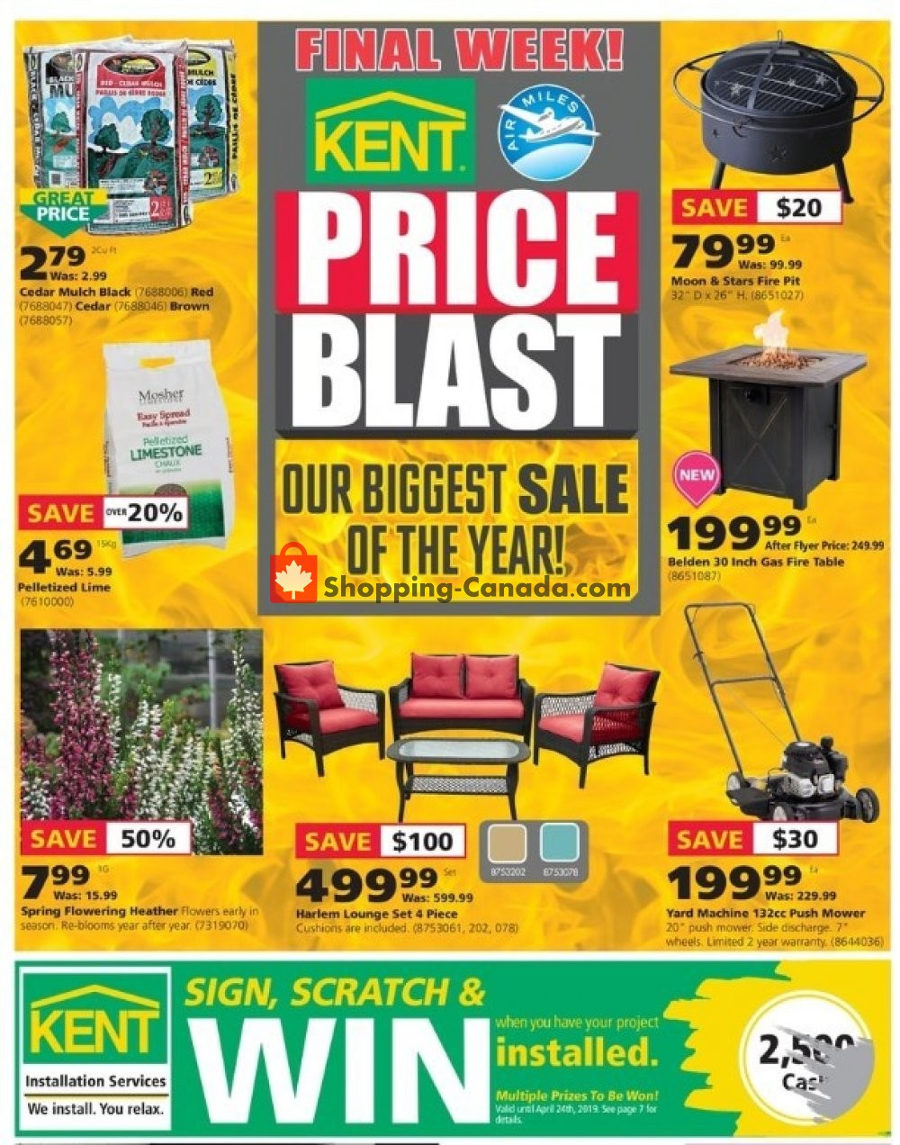 Flyer Kent Building Supplies Canada - from Thursday April 18, 2019 to Wednesday April 24, 2019