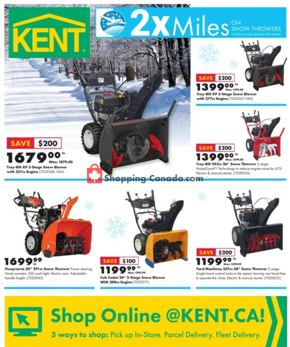 Flyer Kent Building Supplies Canada - from Thursday December 17, 2020 to Wednesday December 23, 2020