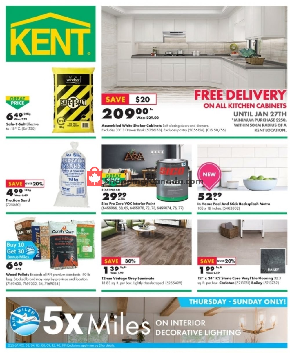 Flyer Kent Building Supplies Canada - from Thursday January 21, 2021 to Wednesday January 27, 2021