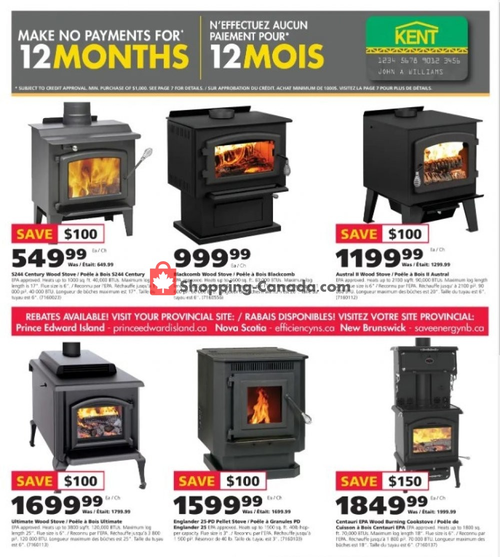 Flyer Kent Building Supplies Canada - from Thursday November 7, 2019 to Wednesday November 13, 2019