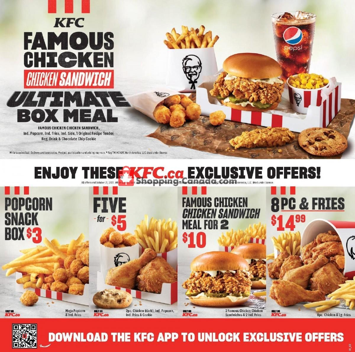 Flyer KFC Canada - from Thursday September 9, 2021 to Sunday October 31, 2021