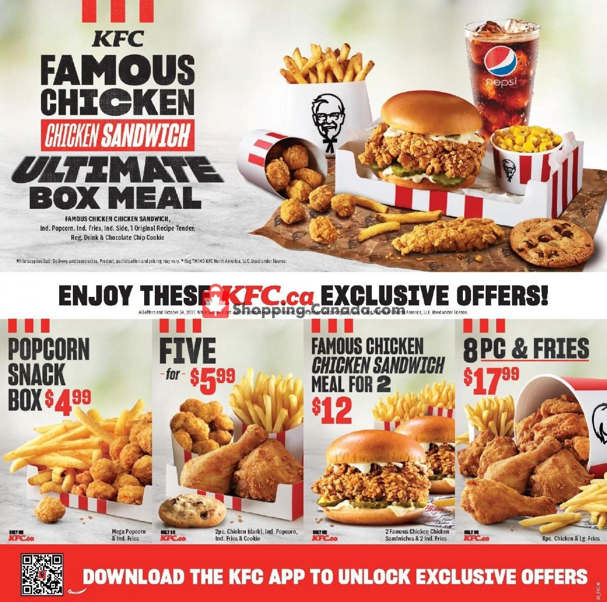 Flyer KFC Canada - from Thursday September 9, 2021 to Sunday October 24, 2021
