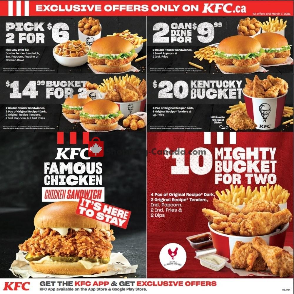 Flyer KFC Canada - from Thursday January 7, 2021 to Sunday March 7, 2021