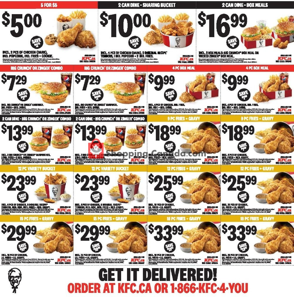 Flyer KFC Canada - from Thursday April 30, 2020 to Wednesday June 3, 2020