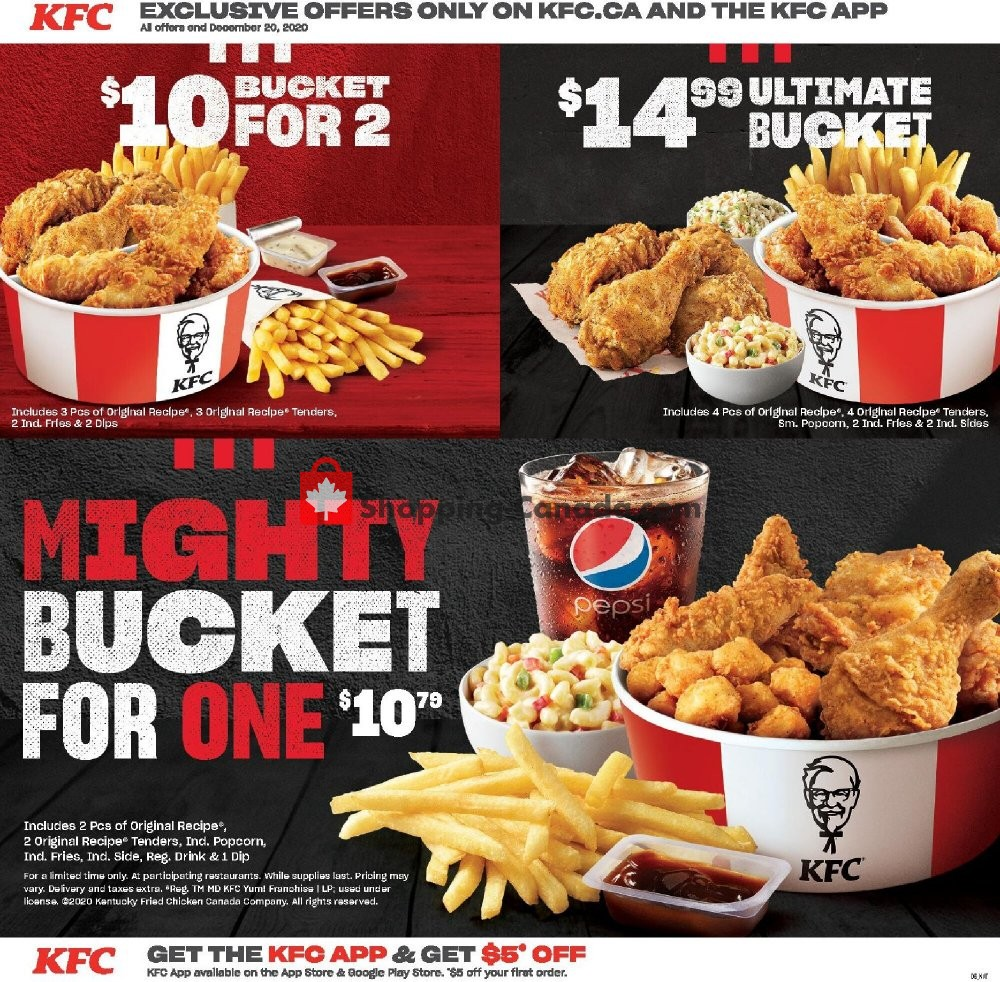 Flyer KFC Canada - from Monday October 19, 2020 to Sunday December 20, 2020