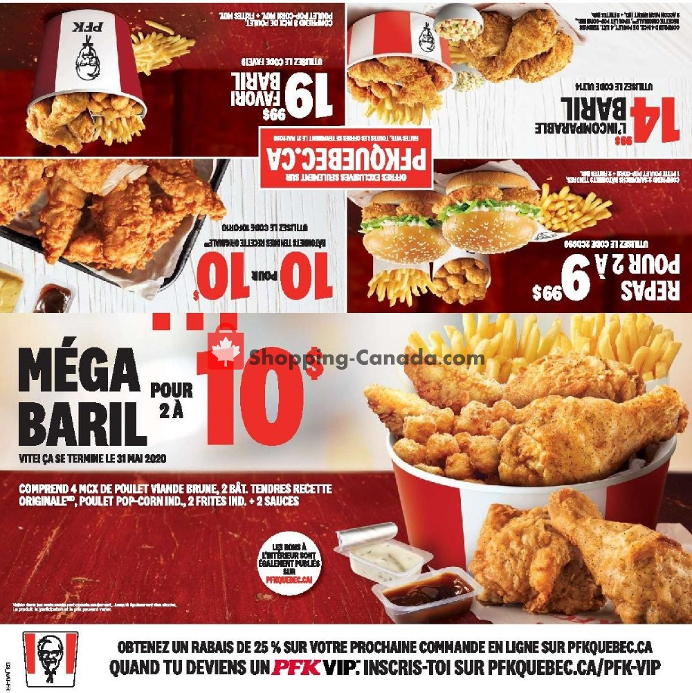 Flyer KFC Canada - from Thursday April 23, 2020 to Wednesday June 3, 2020