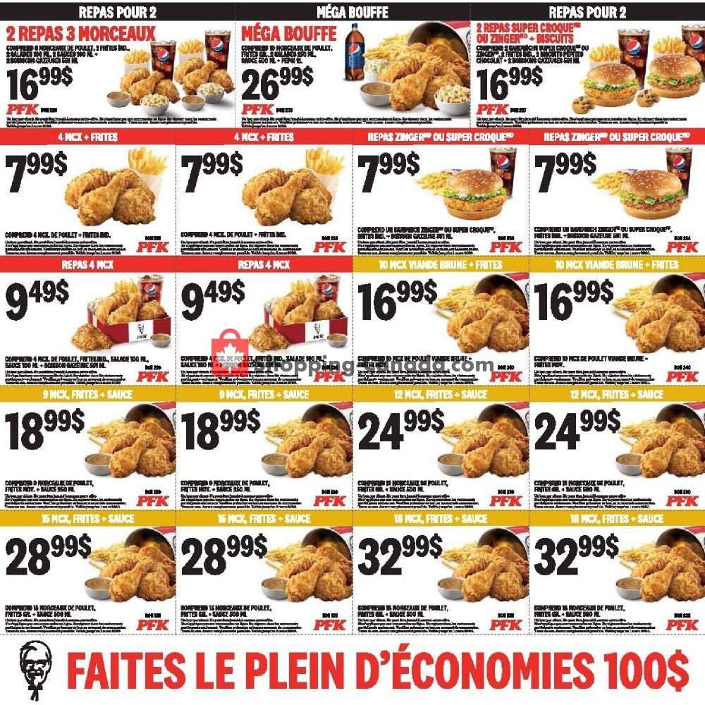 Flyer KFC Canada - from Saturday February 1, 2020 to Sunday March 1, 2020