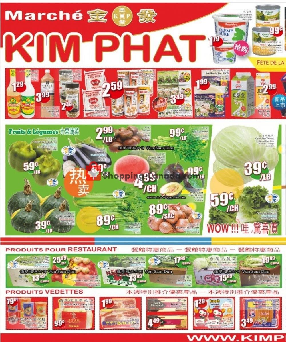 Flyer Kim Phat Canada - from Thursday September 5, 2019 to Wednesday September 11, 2019