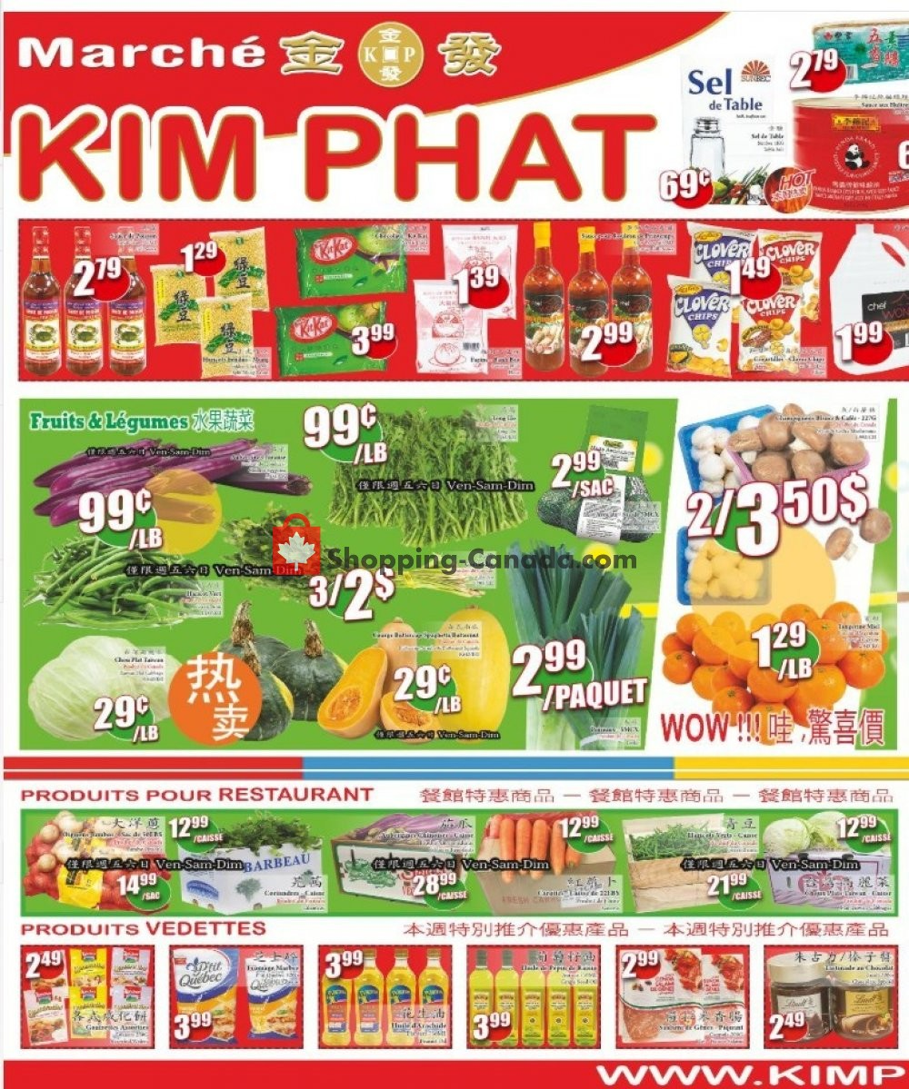 Flyer Kim Phat Canada - from Thursday October 3, 2019 to Wednesday October 9, 2019