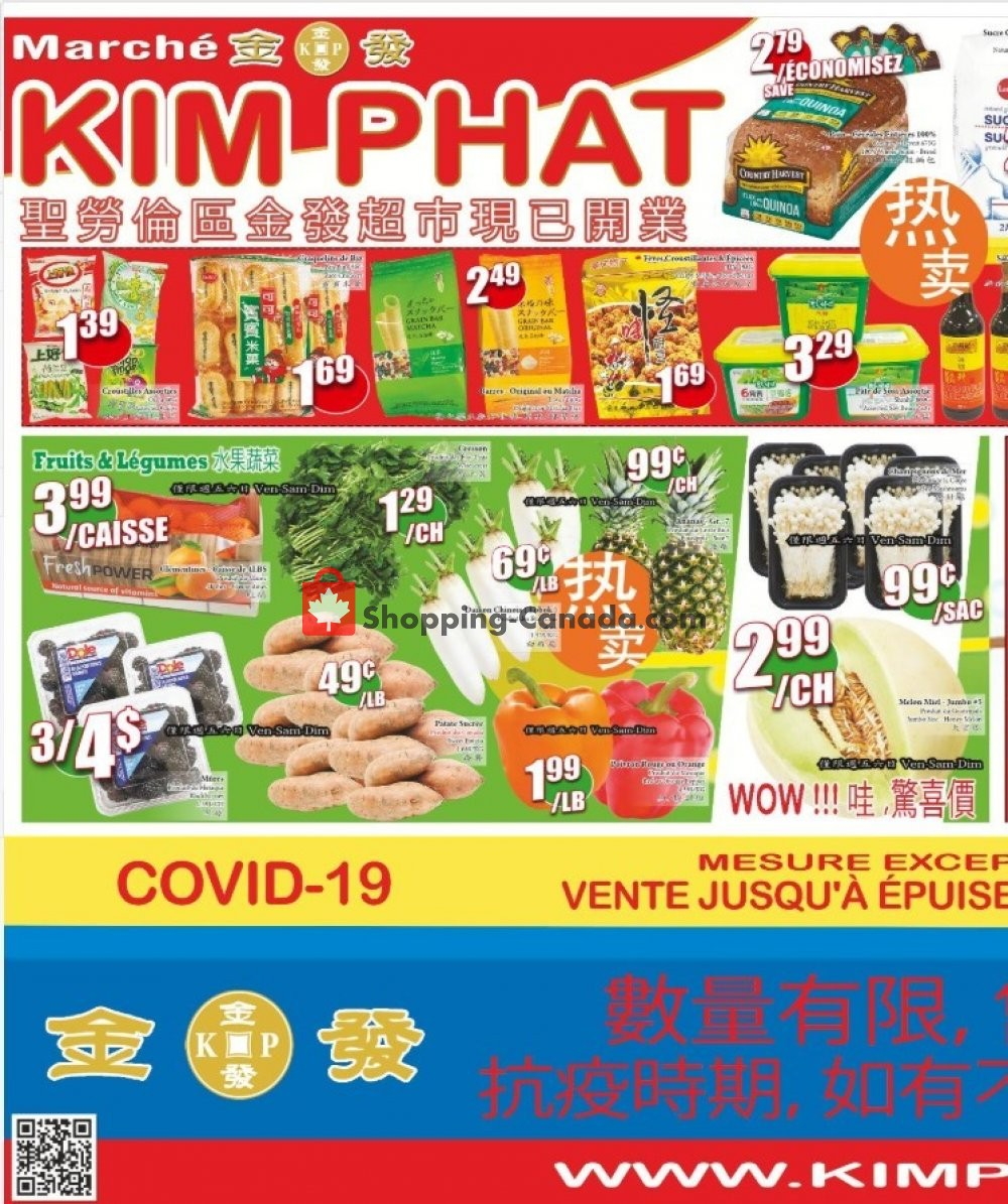 Flyer Kim Phat Canada - from Thursday April 23, 2020 to Wednesday April 29, 2020
