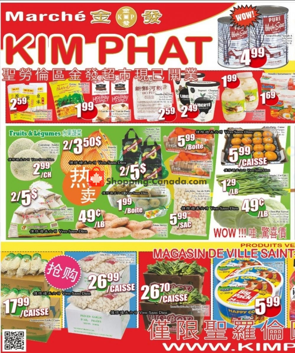 Flyer Kim Phat Canada - from Thursday January 9, 2020 to Wednesday January 15, 2020