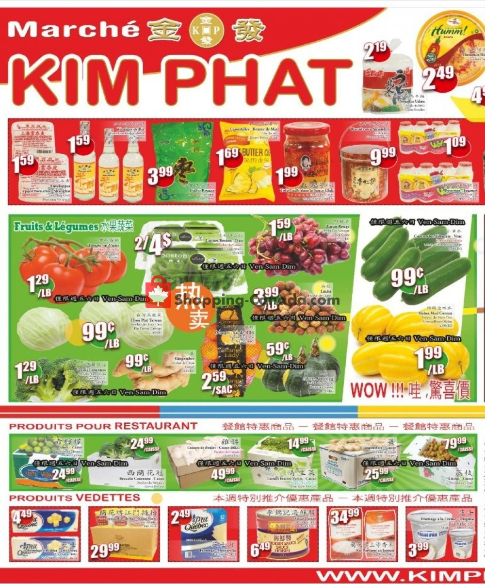 Flyer Kim Phat Canada - from Thursday June 20, 2019 to Wednesday June 26, 2019