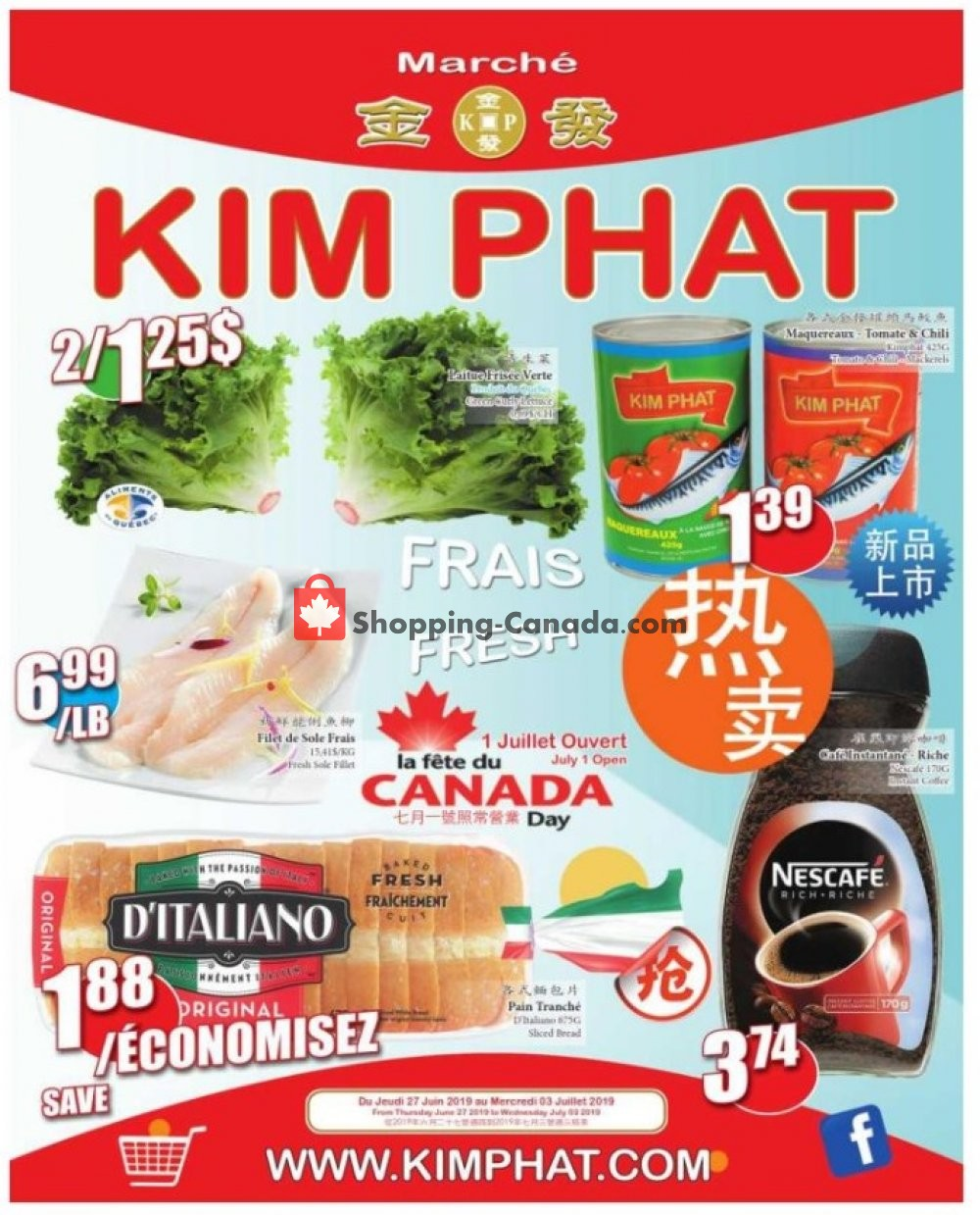 Flyer Kim Phat Canada - from Thursday June 27, 2019 to Wednesday July 3, 2019