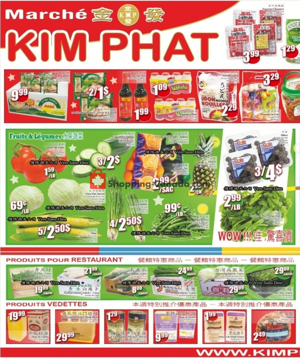 Flyer Kim Phat Canada - from Thursday March 14, 2019 to Wednesday March 20, 2019