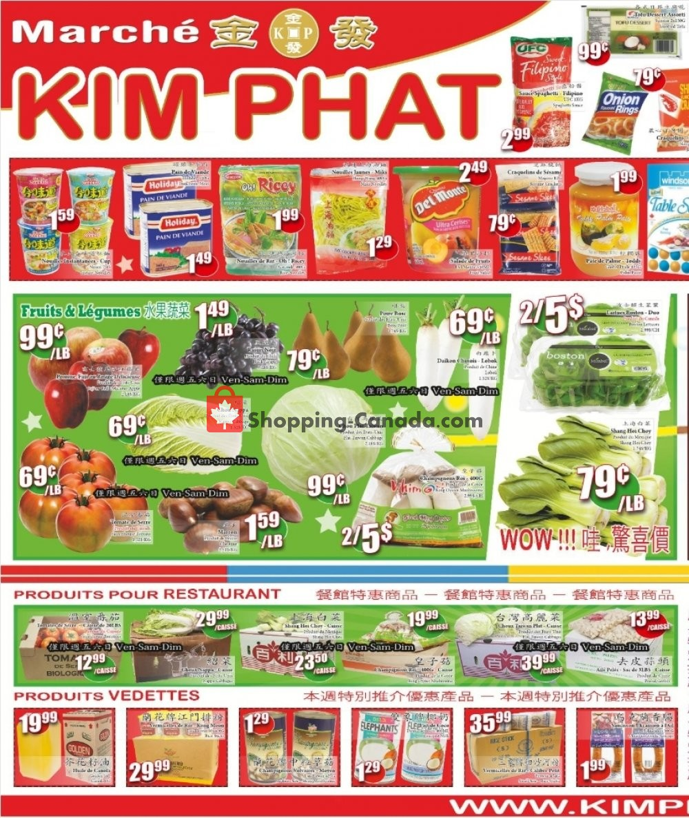 Flyer Kim Phat Canada - from Thursday March 7, 2019 to Wednesday March 13, 2019