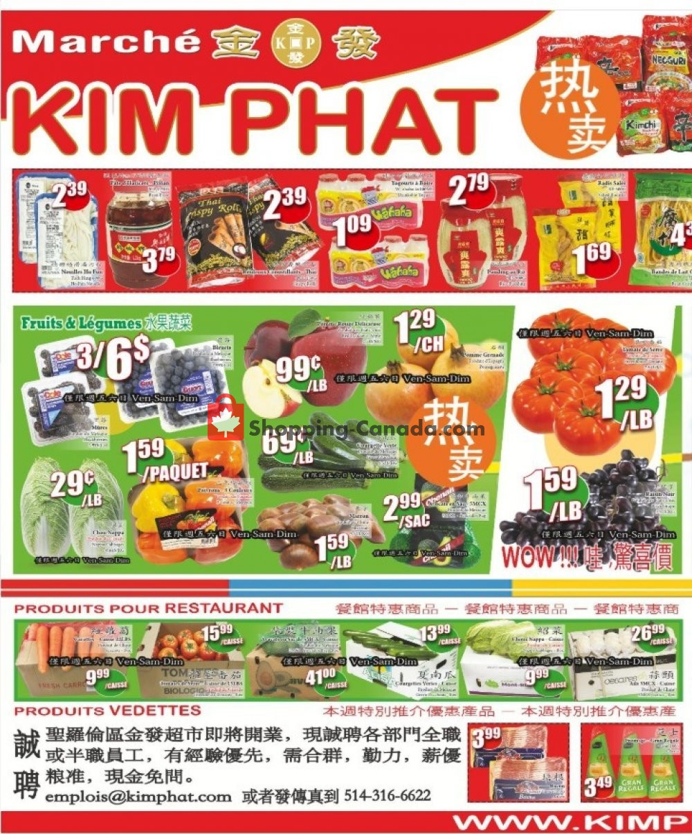 Flyer Kim Phat Canada - from Thursday November 7, 2019 to Wednesday November 13, 2019