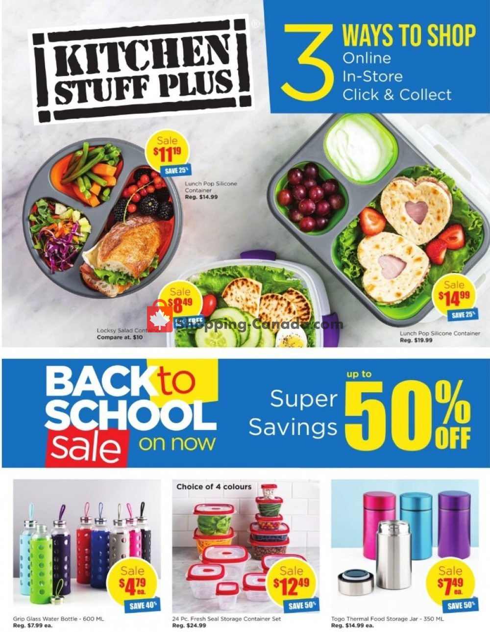 Flyer Kitchen Stuff Plus Canada - from Thursday August 6, 2020 to Thursday August 27, 2020