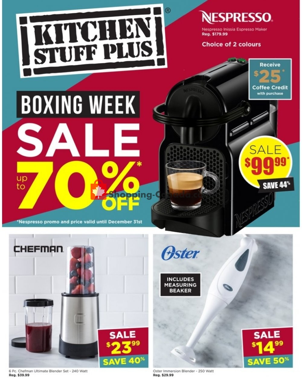 Flyer Kitchen Stuff Plus Canada - from Thursday December 24, 2020 to Sunday January 3, 2021