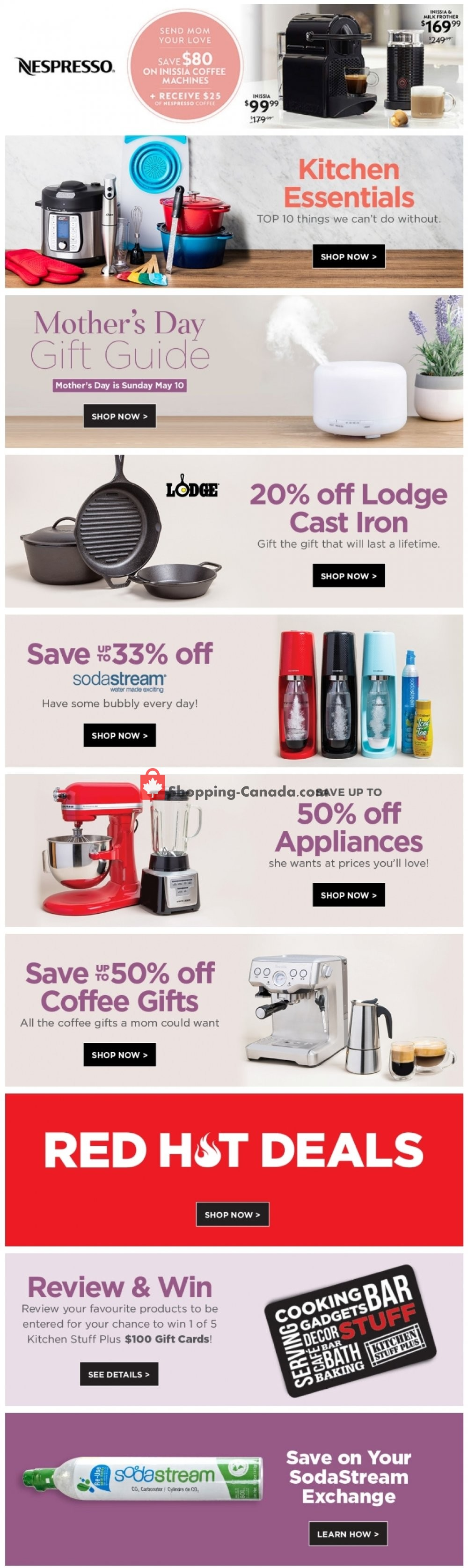 Flyer Kitchen Stuff Plus Canada - from Monday April 27, 2020 to Sunday May 3, 2020