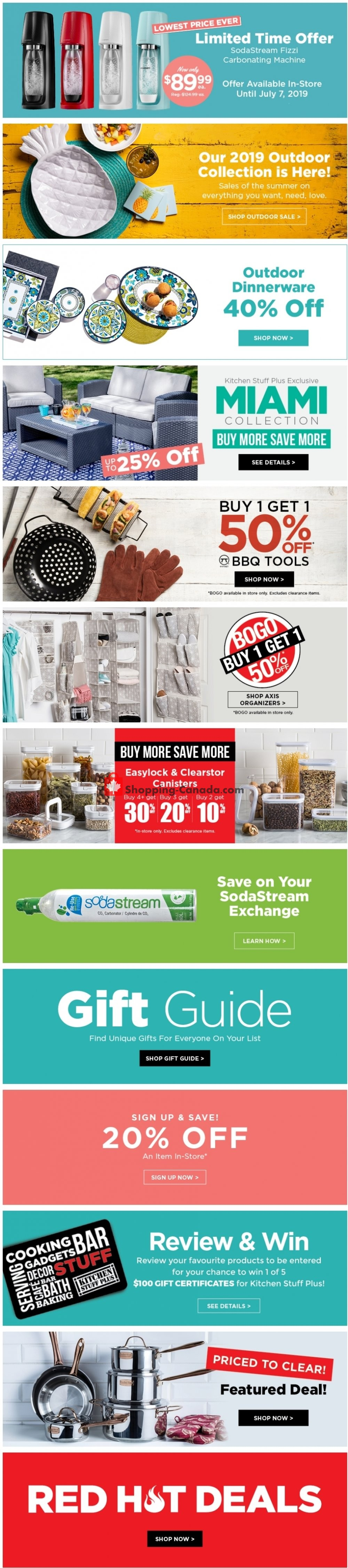 Flyer Kitchen Stuff Plus Canada - from Friday June 28, 2019 to Thursday July 4, 2019