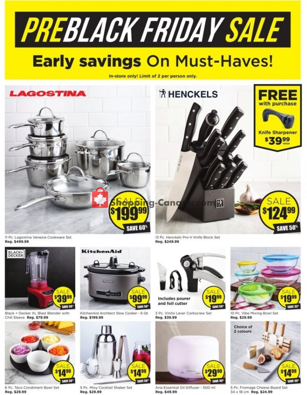 Flyer Kitchen Stuff Plus Canada - from Thursday November 7, 2019 to Sunday November 17, 2019