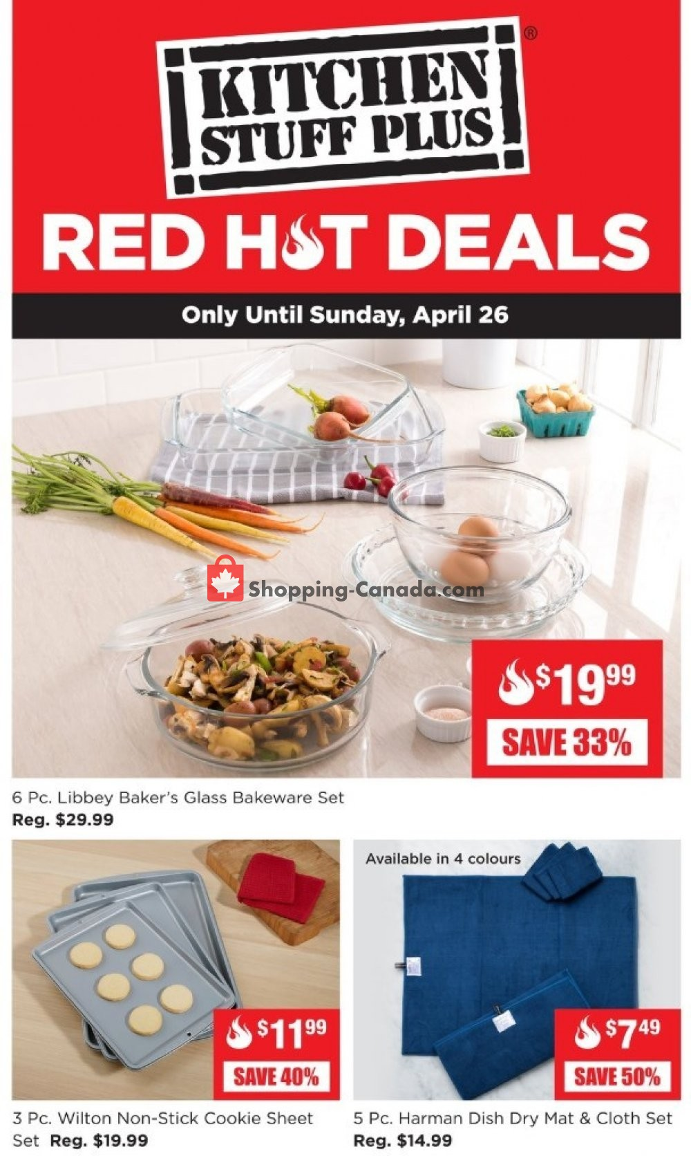 Flyer Kitchen Stuff Plus Canada - from Monday April 20, 2020 to Sunday April 26, 2020