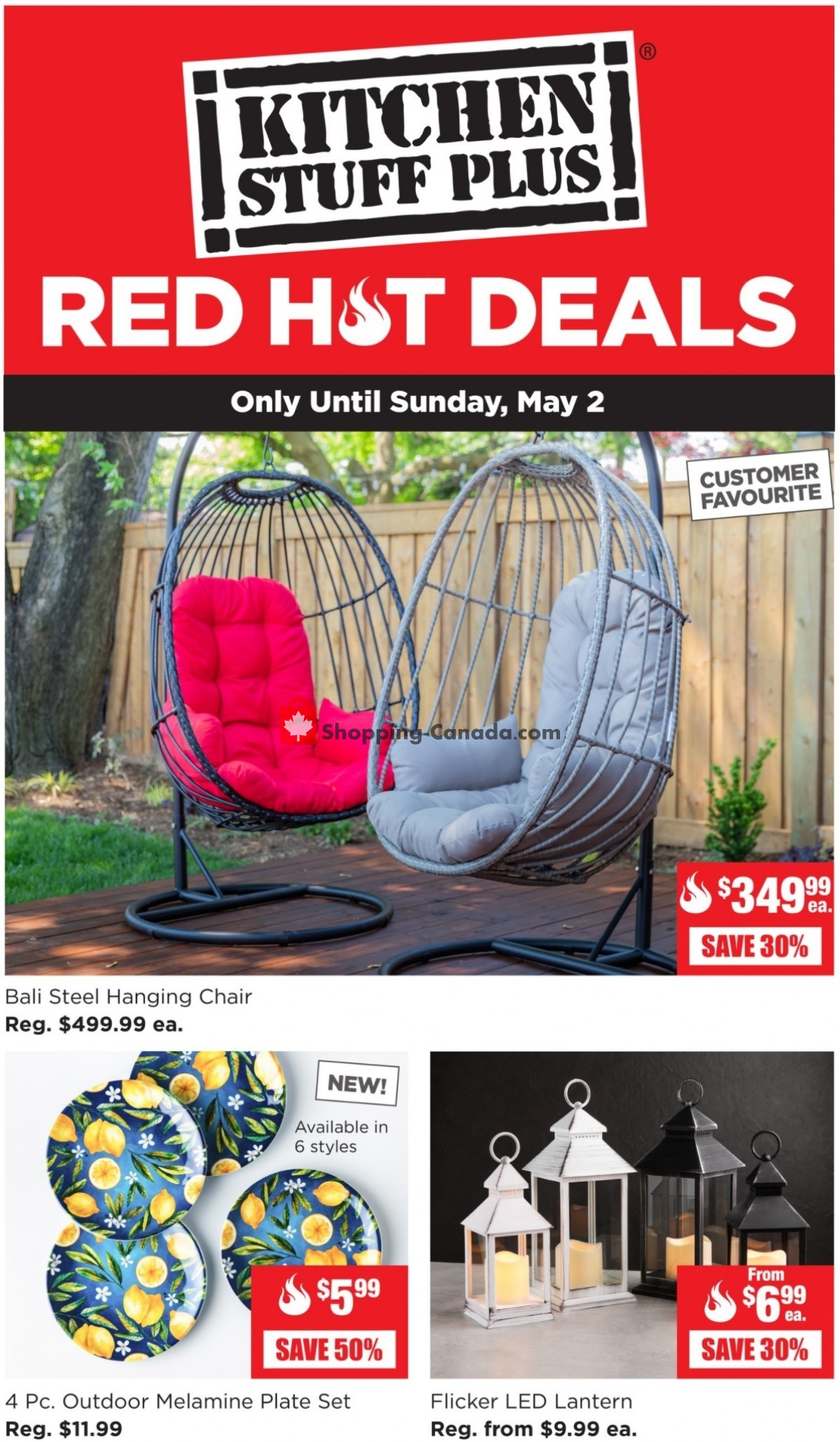 Flyer Kitchen Stuff Plus Canada - from Monday April 26, 2021 to Sunday May 2, 2021