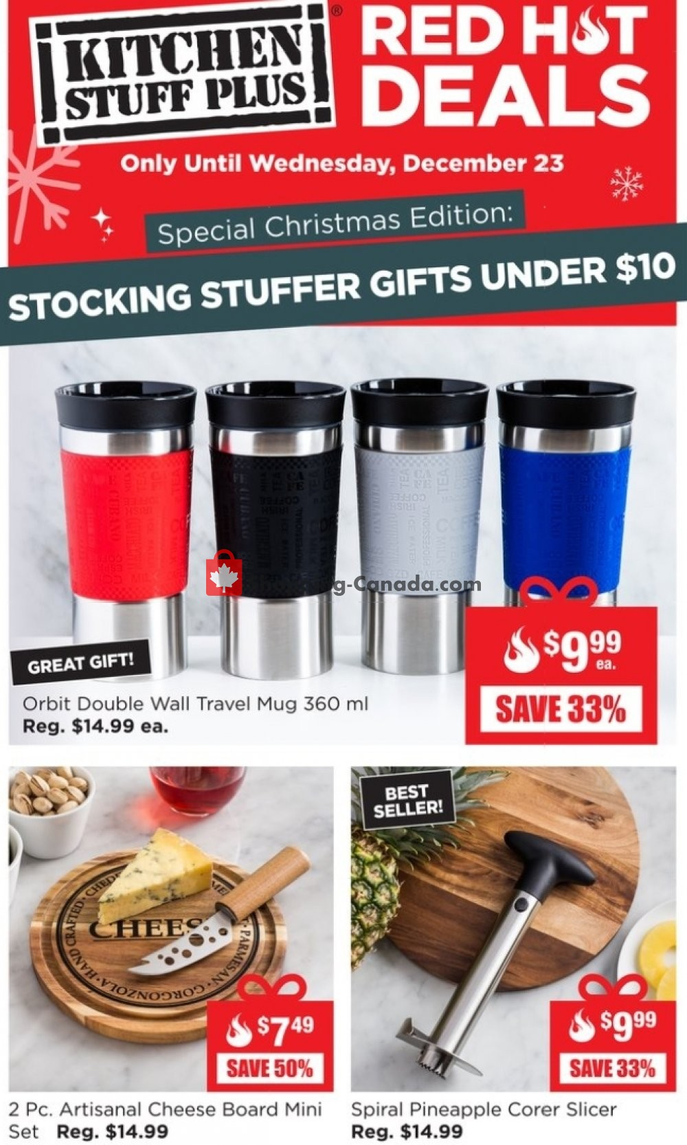 Flyer Kitchen Stuff Plus Canada - from Monday December 21, 2020 to Wednesday December 23, 2020