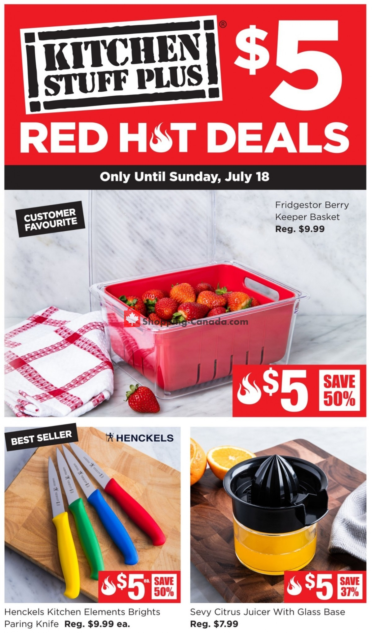 Flyer Kitchen Stuff Plus Canada - from Monday July 12, 2021 to Sunday July 18, 2021