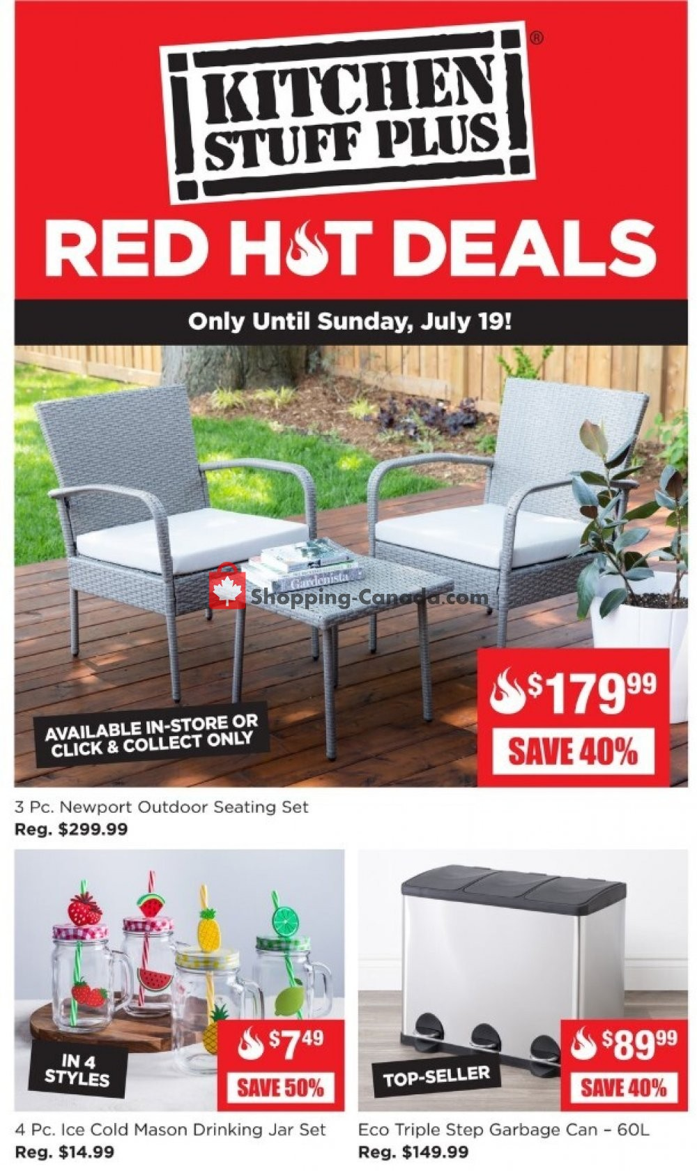 Flyer Kitchen Stuff Plus Canada - from Monday July 13, 2020 to Sunday July 19, 2020