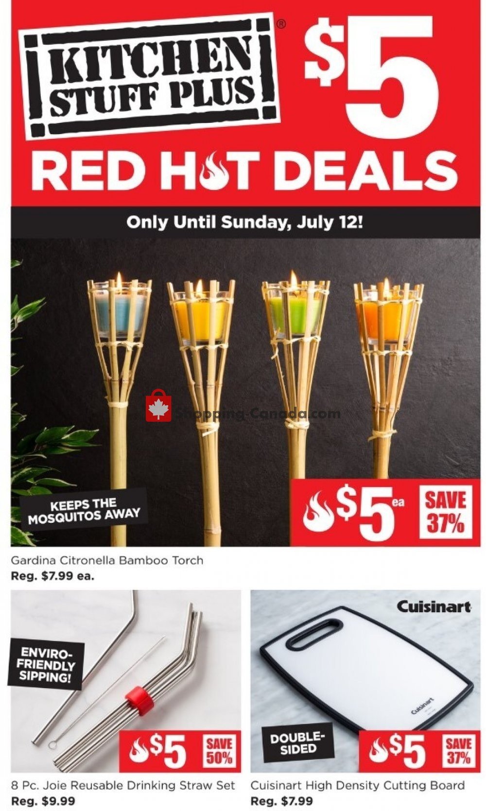 Flyer Kitchen Stuff Plus Canada - from Monday July 6, 2020 to Sunday July 12, 2020