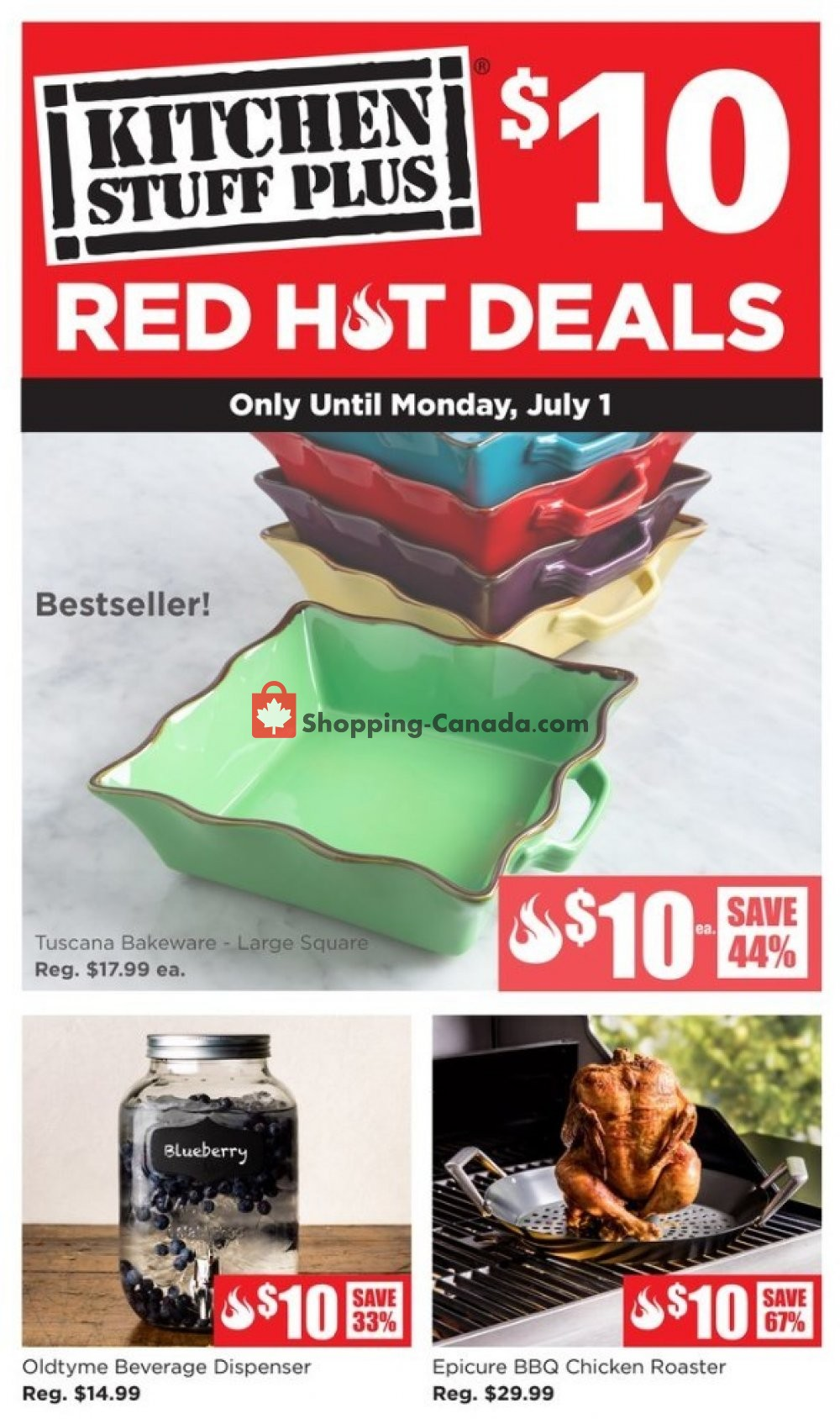 Flyer Kitchen Stuff Plus Canada - from Monday June 24, 2019 to Monday July 1, 2019