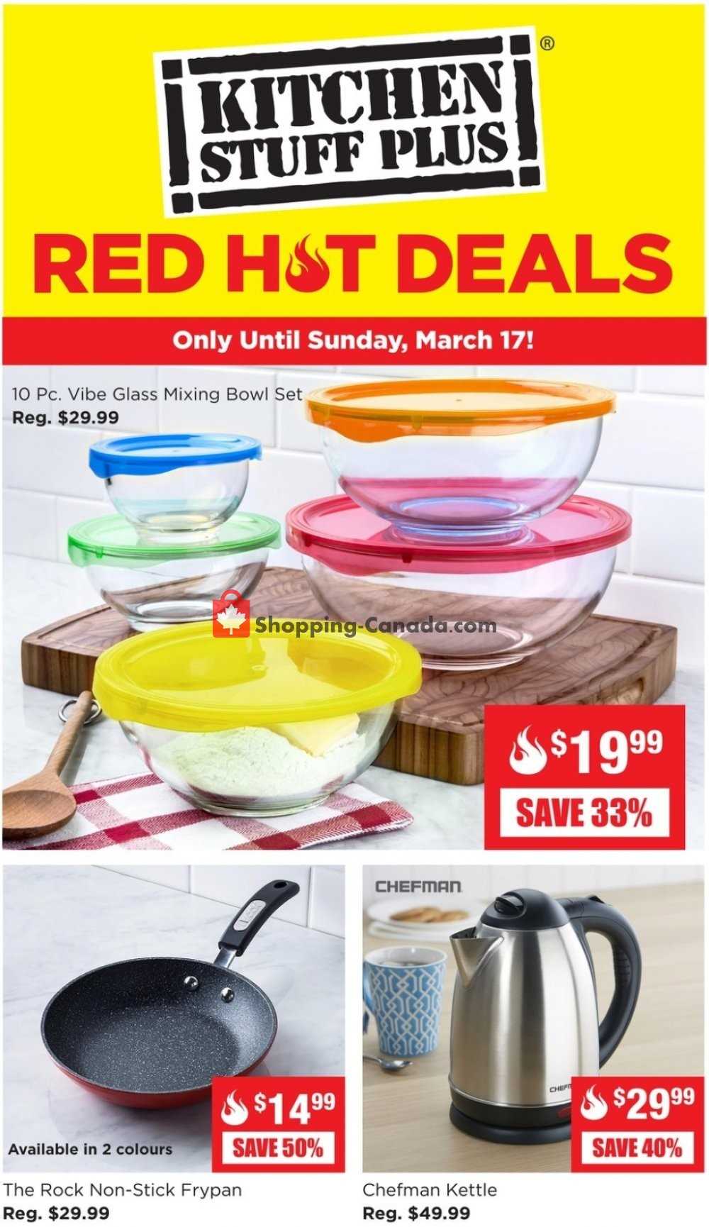 Flyer Kitchen Stuff Plus Canada - from Monday March 11, 2019 to Sunday March 17, 2019