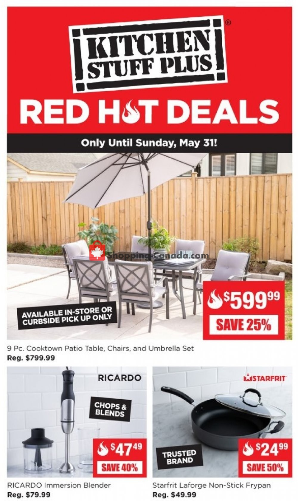 Flyer Kitchen Stuff Plus Canada - from Monday May 25, 2020 to Sunday May 31, 2020