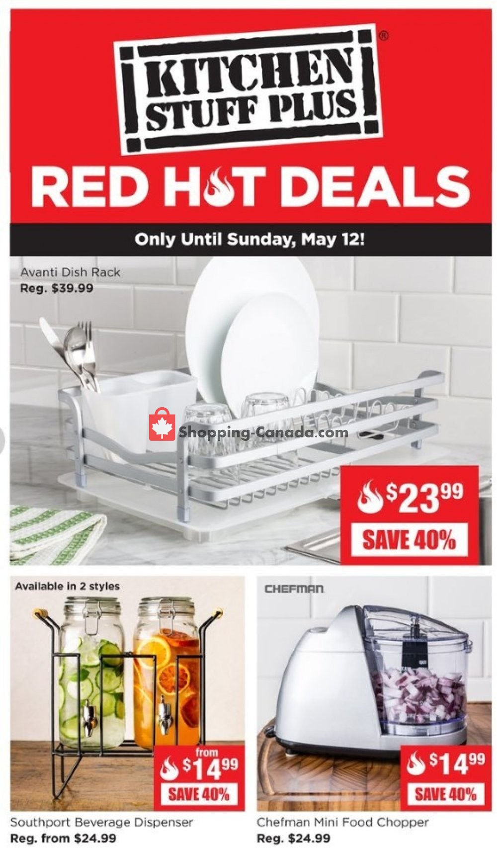 Flyer Kitchen Stuff Plus Canada - from Monday May 6, 2019 to Sunday May 12, 2019