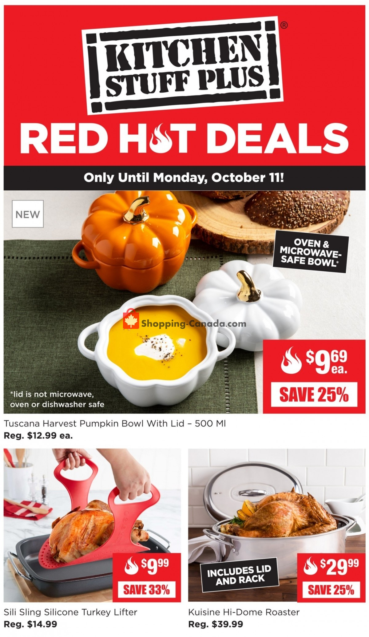 Flyer Kitchen Stuff Plus Canada - from Monday October 4, 2021 to Sunday October 10, 2021