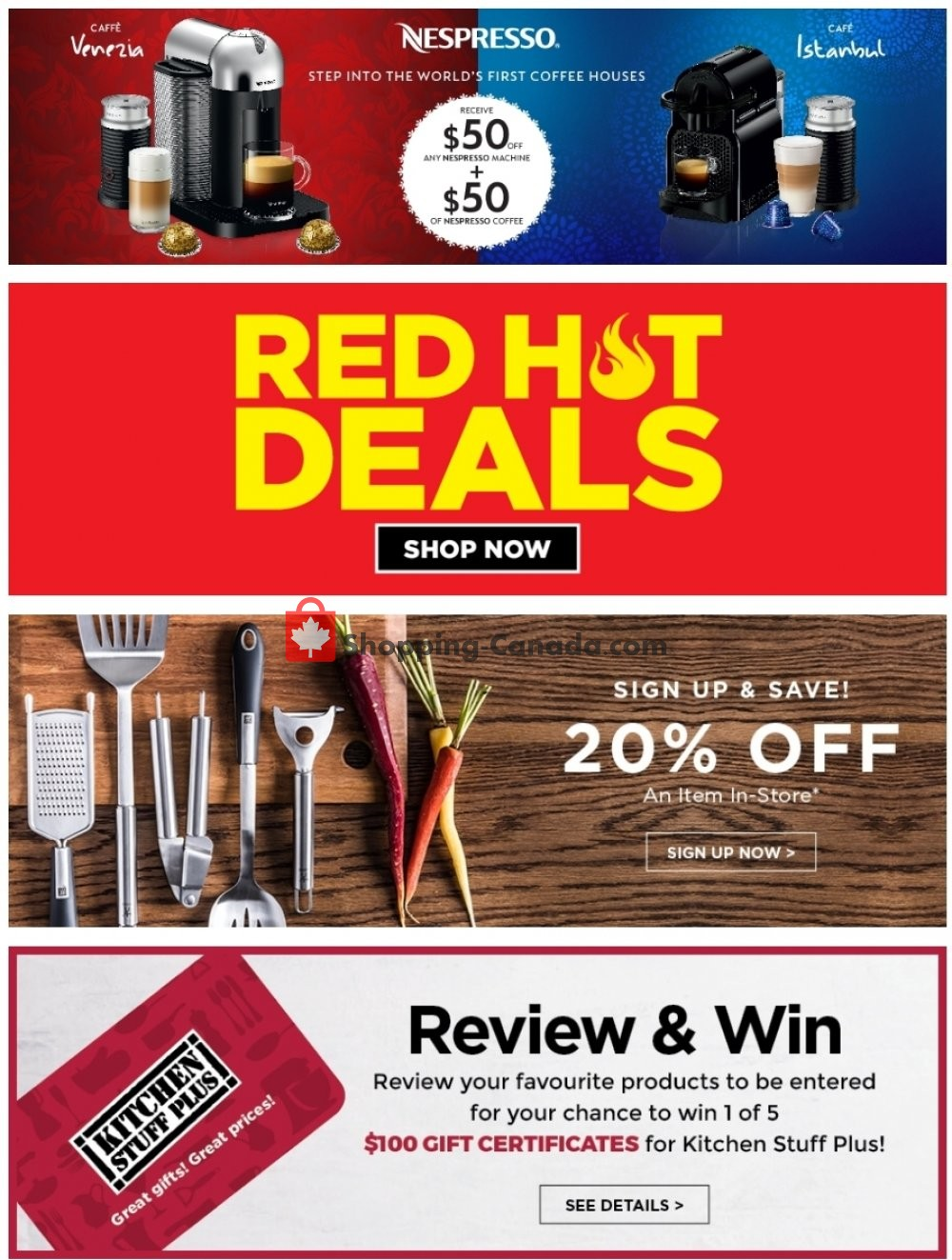 Flyer Kitchen Stuff Plus Canada - from Sunday February 17, 2019 to Saturday February 23, 2019