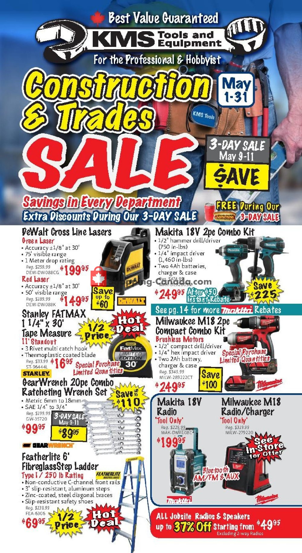 Flyer KMS Tools & Equipment Canada - from Wednesday May 1, 2019 to Friday May 31, 2019