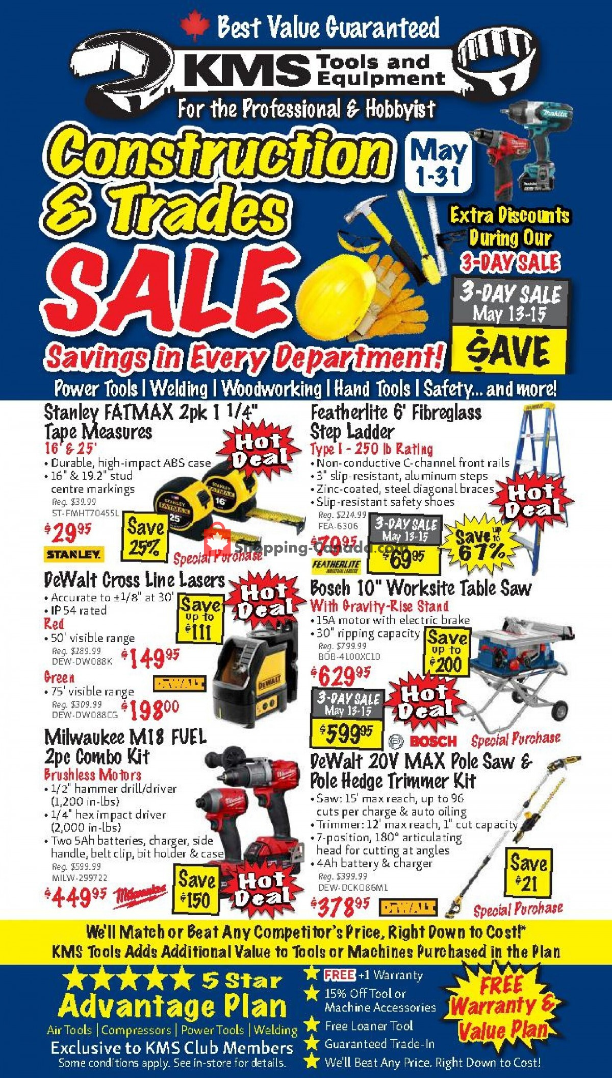 Flyer KMS Tools & Equipment Canada - from Saturday May 1, 2021 to Monday May 31, 2021