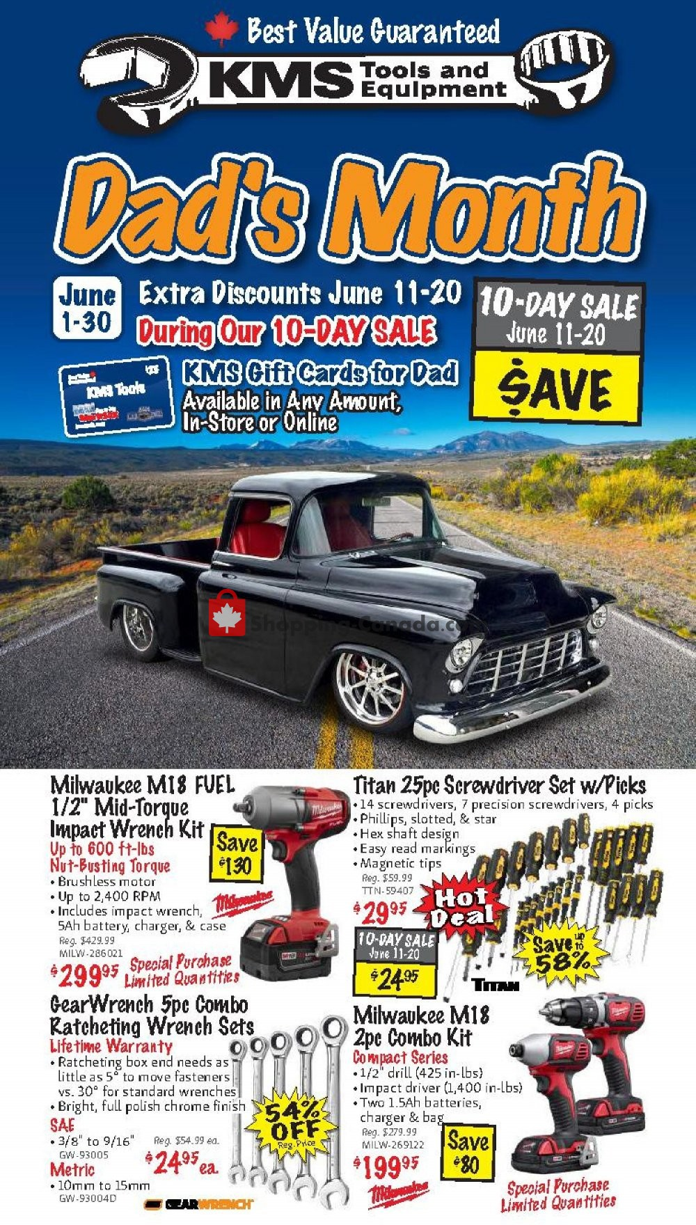 Flyer KMS Tools & Equipment Canada - from Monday June 1, 2020 to Tuesday June 30, 2020