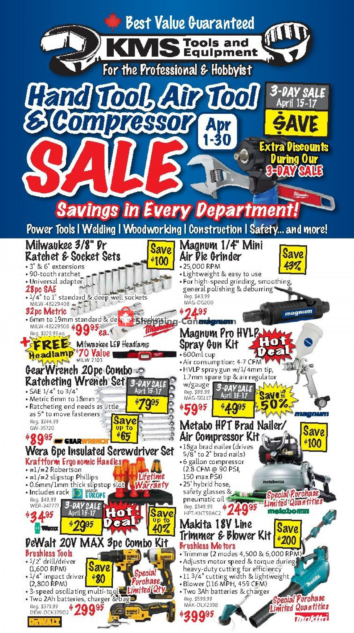 Flyer KMS Tools & Equipment Canada - from Thursday April 1, 2021 to Friday April 30, 2021